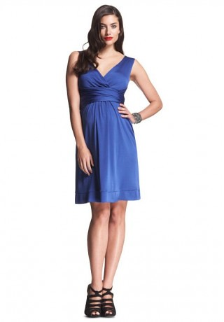 chiffon v-neck maternity bridesmaid dress