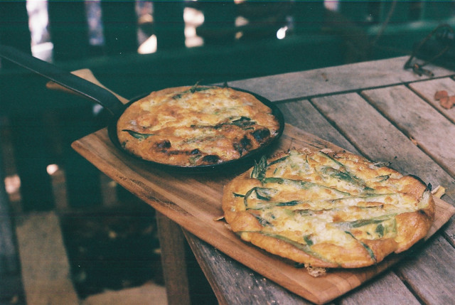 Frittata fresh from the pizza oven