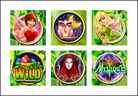 free Mystique Grove slot game symbols