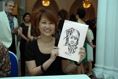 caricature live sketching for Intel Mobile Communications Year-End celebrations - 8
