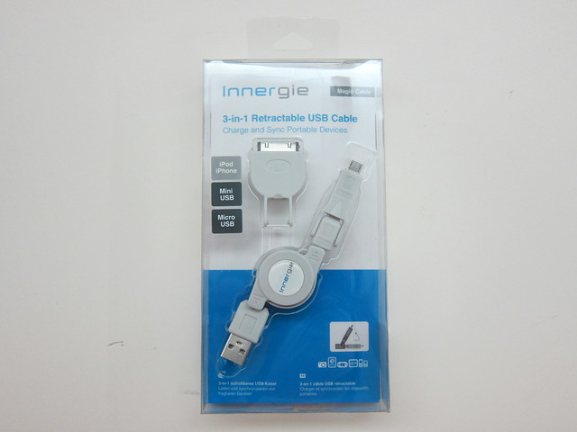 Innergie Magic Cable - 3-in-1 Retractable USB Cable - Box Front
