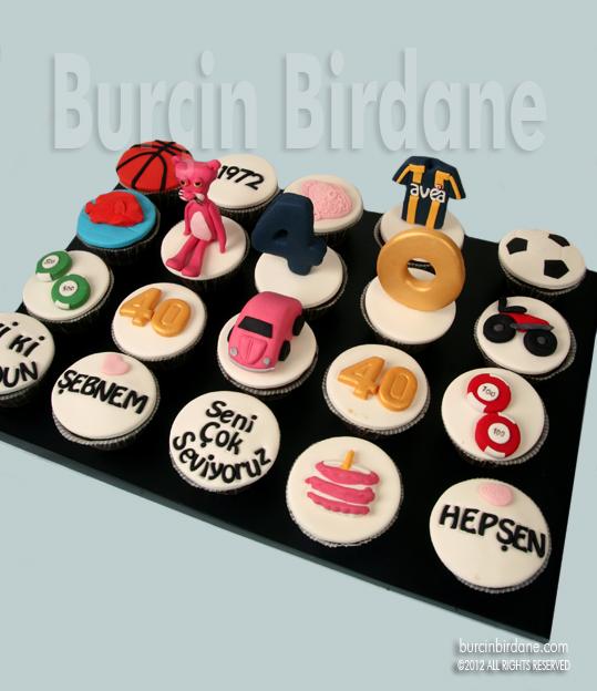 40 yas cupcake