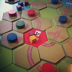 Tracks around Lodz #boardgames