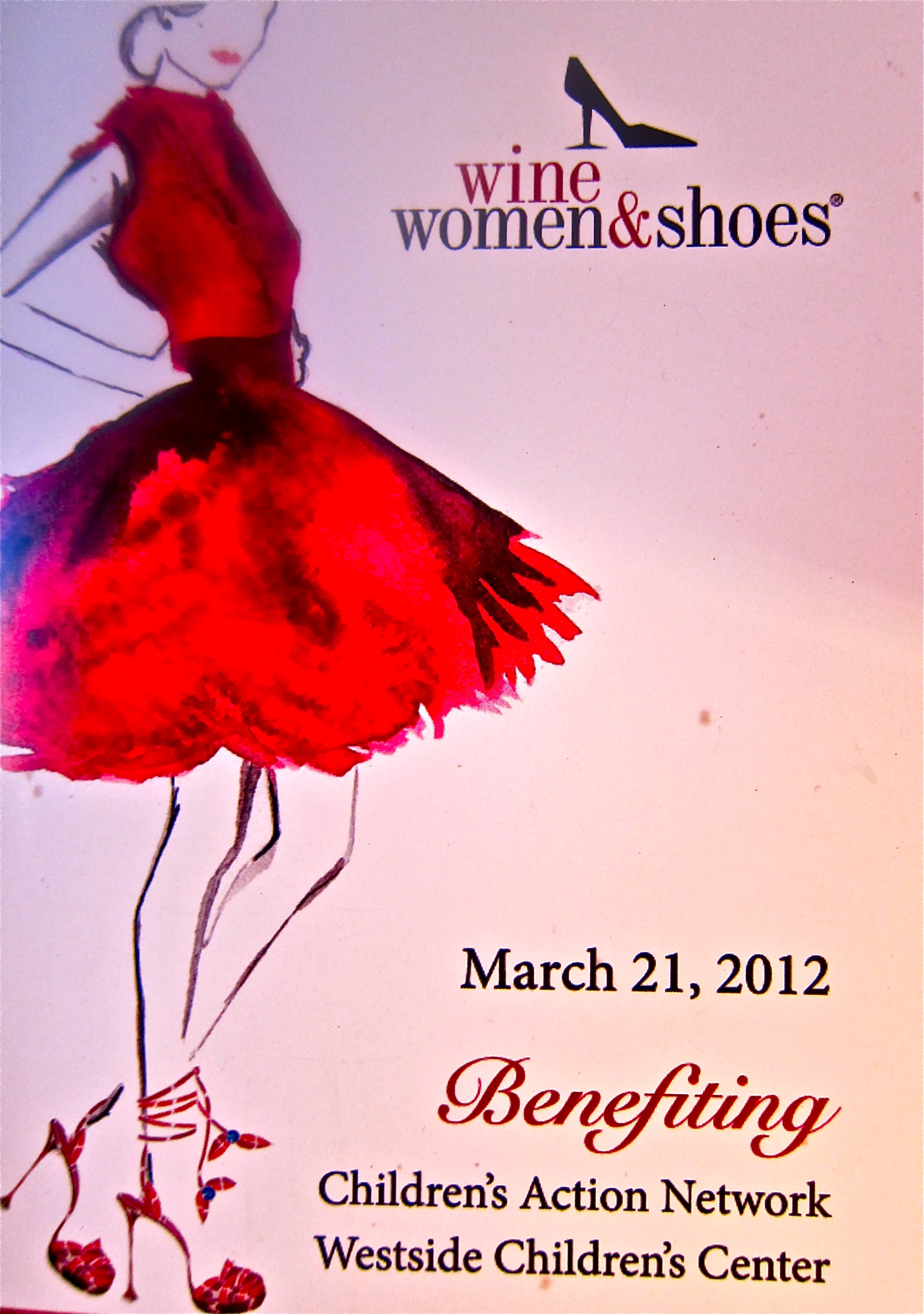 wine, women and shoes -event logo