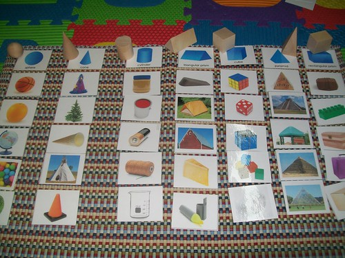 Geometric Solids Sorting (Photo from Mi Escuelita Montessori)