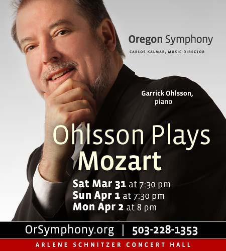 Ohlsson Plays Mozart @ Oregon Symphony
