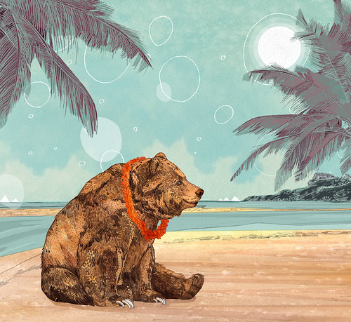 Beach Bear by www.sandradieckmann.com