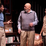 Billy Eugene Jones (as Flip), Wendell W. Wright (as Joe LeVay), and Jason Dirden (as Kent) in the Huntington Theatre Company's production of Stick Fly. Part of the 2009-2010 season.