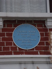 Photo of Thomas Wilde blue plaque