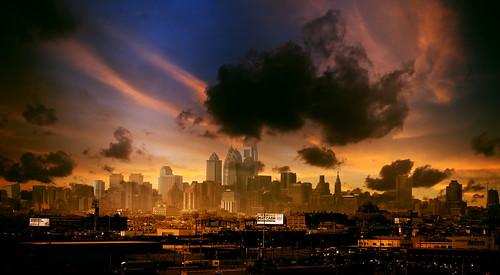city sunset sky urban cloud building skyscraper umbrella studio landscape dawn town dusk sunny tall philly blaze bianca delph illadelph schlesiger umbrelika
