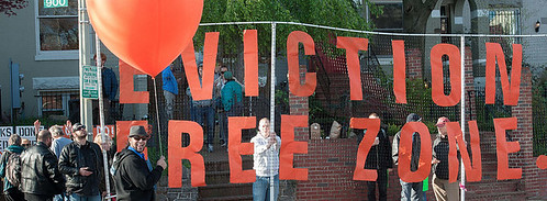 Eviction Free Zone action in DC, April 2, 2012