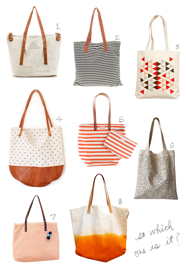 Glass and Sable tote handbag Proud Mary polka dot fabric pattern