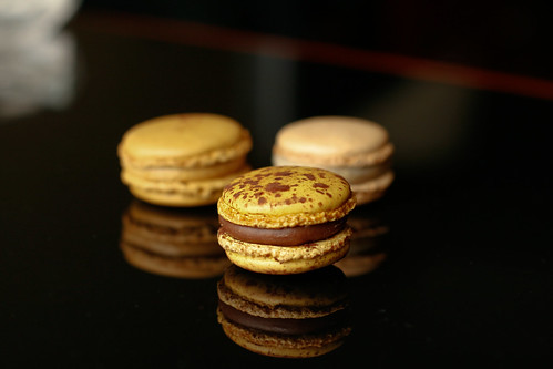 Trio of macarons