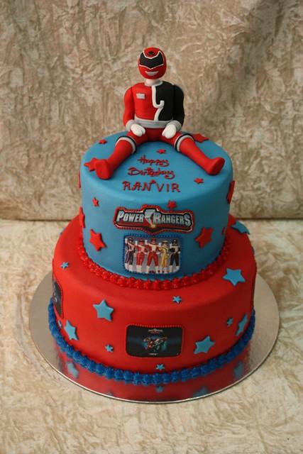 Red Power Ranger Cake Ideas