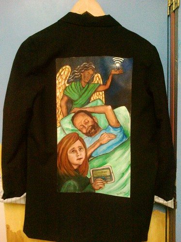 """Virtual Hospice"" a jacket for Colleen Young"