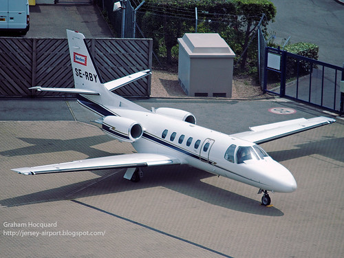 SE-RBY Cessna 550 Citation Bravo by Jersey Airport Photography