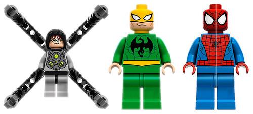 6873 Spider-Man's Doc Ock Ambush - minifigs