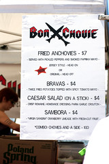 bonchovie menu @ smorgasburg