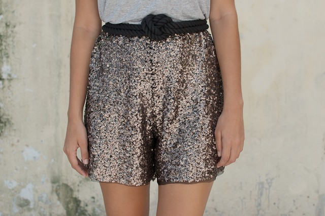 diy sequin shorts 1