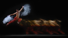 [フリー画像素材] 人物, 男性, 跳ぶ・ジャンプ, 功夫・カンフー ID:201207090400