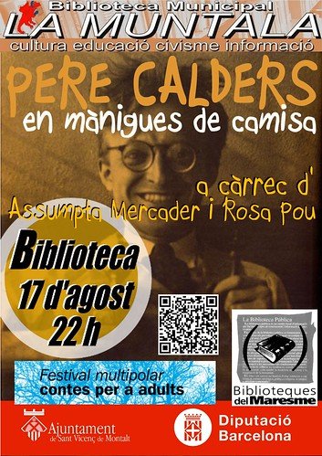 Pere Calders en mànigues de camisa @ 17 agost 22 h. by bibliotecalamuntala