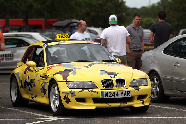 2000 BMW Z3 M Coupe | Dakar Yellow | Black | Le Mans Taxi | Camo | Stickered