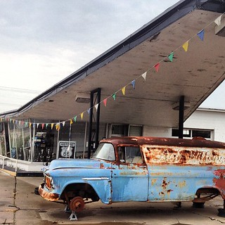 Tireless old Ford. #route66 #roadtrip