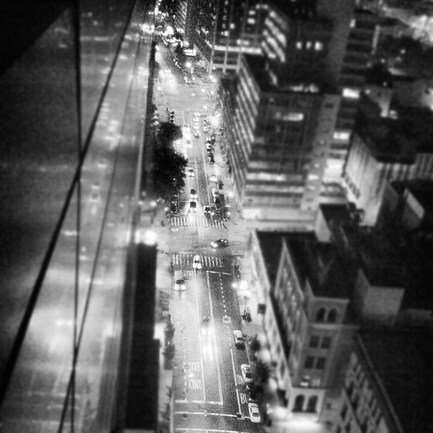 city lights black and white - photo #23