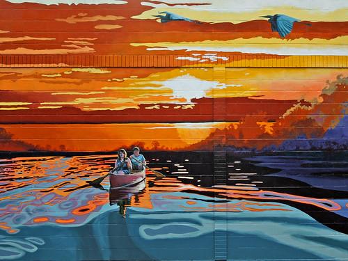 sunset lake art mural row columbiamo