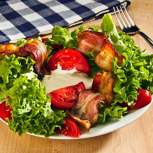 BLT Salad with Napkin and Fork