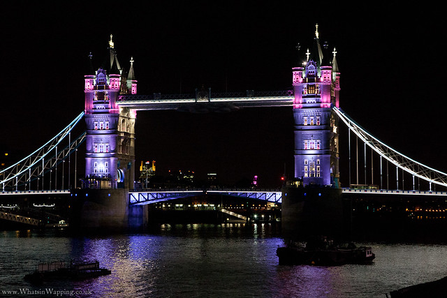 Tower Bridge light display - 21 July 2012