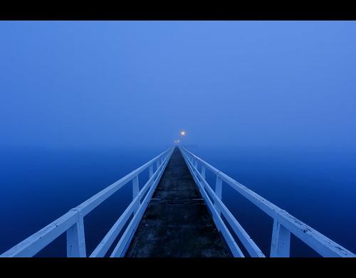 ocean blue sea newzealand sky mist nature water fog canon landscape photography dawn coast harbor pier twilight harbour jetty bluesky auckland nz coastline bluehour aotearoa hdr hdri canonefs1022mmf3545usm waitemata tamakidrive photomatix promotecontrol eos550d slightlypearshaped slightlypearshapedcom