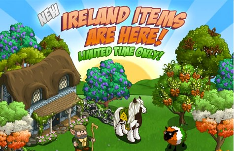 Limited Edition 'Irish' Themed Farmville Items Available