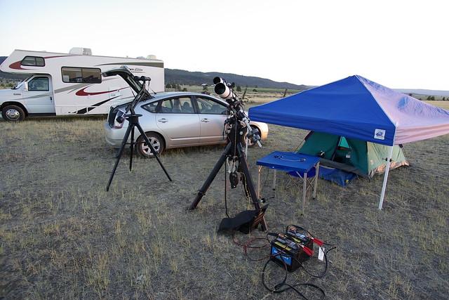 Camping Setup at GSSP 2012