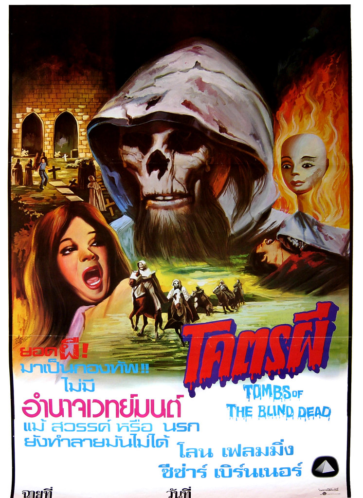 Tombs of the Blind Dead, 1971 (Thai Film Poster)