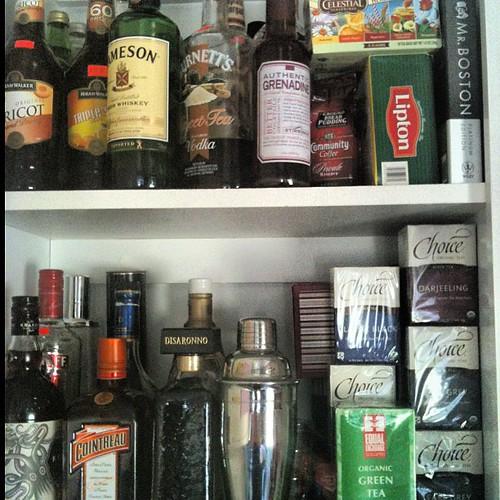 Tea and booze