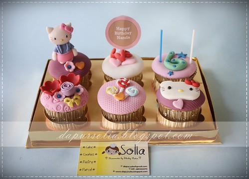 Hello Kitty Cupcake Set-Nanda