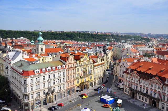 Prague's Old Town from the Old Town Tower