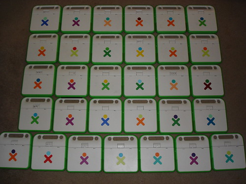 31 XO Laptops, by color...