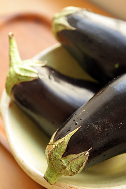 fresh eggplants for eggplant jam