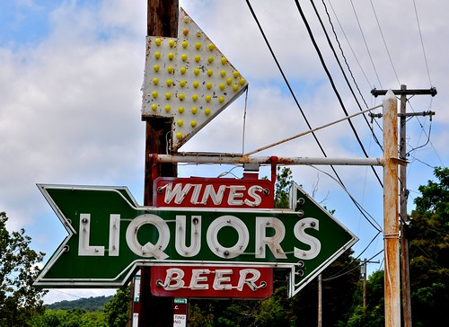 Hi-Way Liquors Vintage Sign