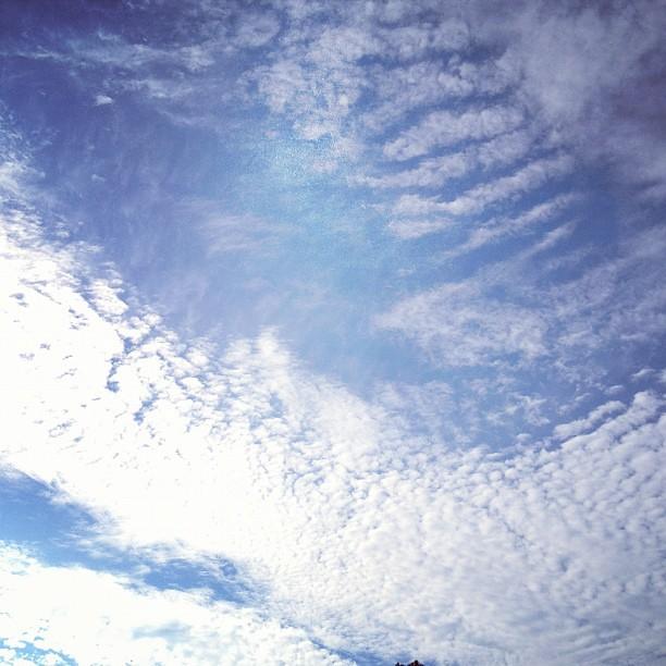 Beautiful morning sky.