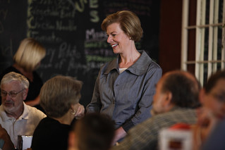 Tammy Baldwin in cafe
