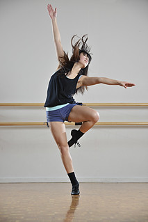 Auckland dancer training at the studio.