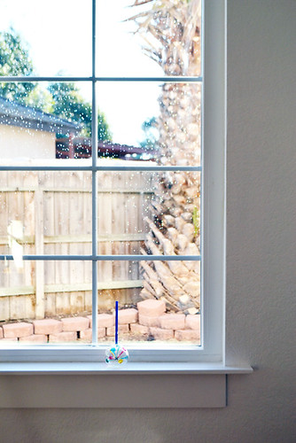 Handmade Window Sill in Dining Room
