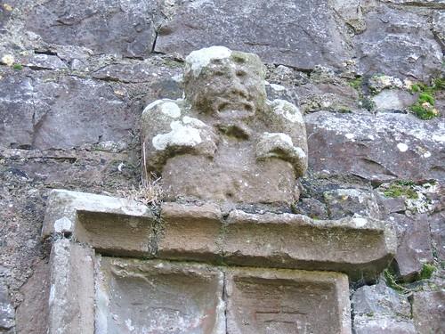 St Munna's church, Taghmon, Westmeath - Sheela-na-Gig figure