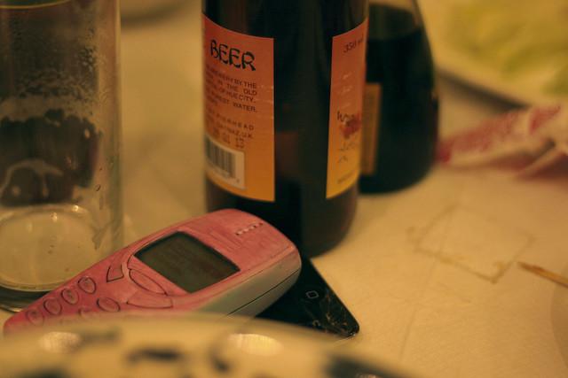 phone & beer