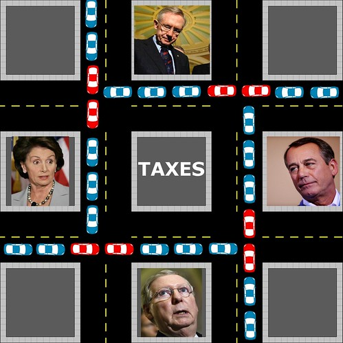 Regardless of who wins the Presidency, expect to see red/blue gridlock in Congress over taxes.