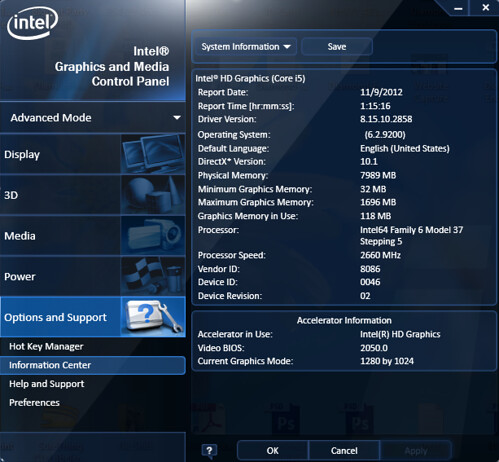 Intel Driver Info