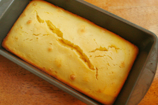 Lemon Cake with Cream Cheese Topping